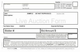 Auction Registration Form Template Auction Form Rome Fontanacountryinn Com