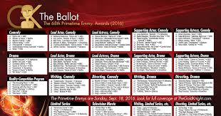 2016 primetime emmy awards printable ballot the gold knight latest academy awards news and insight