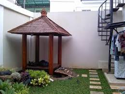 modern design outdoor furniture decorate. decoration modern design outdoor canopy small gazebo with roof and poles beside high wall also furniture decorate