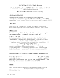 Music Resume Template Corol Lyfeline Co Musicians Musical Theater