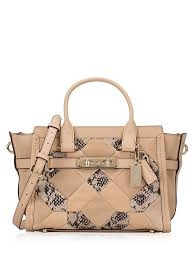 Coach 37188 Swagger 27 Exotic Embossed Leather Satchel Beechwood