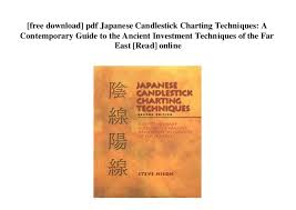 Free Download Pdf Japanese Candlestick Charting Techniques