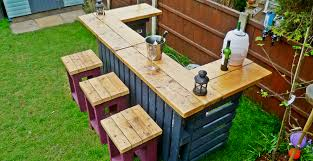 Bar Made Out Of Pallets The Garden Bar Made From Reclaimed Timber And Discarded Pallets