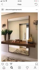 Design House Mirror Floating Shelf And Large Mirror On Wall Behind Shelf