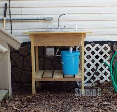 Outdoor Kitchen Sink Station Build An Outdoor Sink And Connect It To The Outdoor Spigot