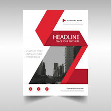 White Brochure Red And White Corporate Brochure Template Vector Free Download