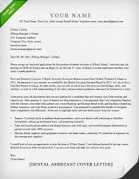 Resume Cover Letter Examples For Dental Assistant Best