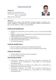 haris safety officer cv