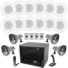 office speaker system. Office And Warehouse PA Sound System With 12 Atlas In-Ceiling Speaker Kits 8 Outdoor I