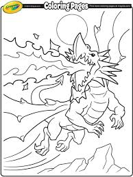 Fire Breathing Dragon Coloring Page Crayolacom