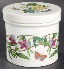 4 storage jar w ceramic lid botanic garden by portmeirion