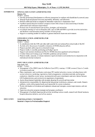 Education Administrator Resume Samples Velvet Jobs