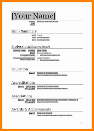 Resume Template Ms Word 2007 Inspirational Download Templates