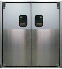 swinging kitchen door. Industrial-Retail-Doors Swinging Kitchen Door