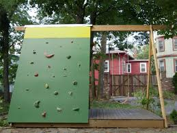 Small Picture Build a Combination Swing Set Playhouse and Climbing Wall how