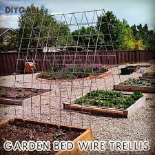 use garden safe pallets to build raised beds wire trellises for vertical gardening