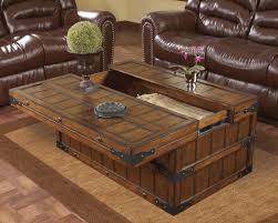... Coffee Table, Stylish Brown Rectangle Wood Rustic Trunk Coffee Table  With Storage Designs Which Can ...