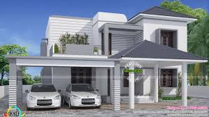 exterior simple elegant house and modern kerala home design