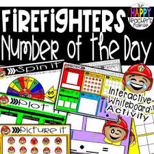 Number Of The Week Flip Chart Number Of The Day Firefighter Interactive Promethean Board