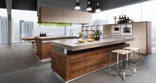modern kitchen ideas. Elegant Modern Kitchen Ideas With Wood Furniture And Pendant Lights