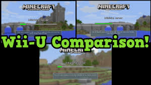 minecraft xbox one map size minecraft wii u vs ps4 vs xbox 360 compared world size render