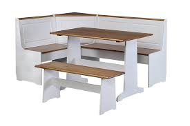 view larger kitchen table with bench