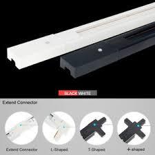 Track lighting fitting Kitchen Image Is Loading 85265vuniversaltwocircuitrailtracklighting Ebay 85265v Universal Two Circuit Rail Track Lighting Fitting Spot Light