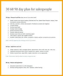 15 30 60 90 Day Sales Plan Template Free Sample Schedule Template