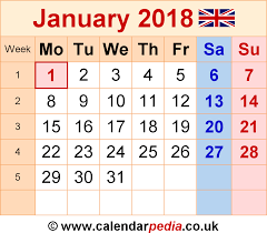 calendar january 2018 template calendar january 2018 uk bank holidays excel pdf word templates