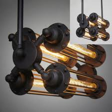 modern pounk style pendant lights vintage industrial loft metal black rustic fashion light e27 wire hanging cheap rustic lighting