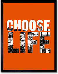 Amazon.com: Wee Blue Coo Quote Choose Life Scotland Trainspotting Edinburgh  Art Print Framed Poster Wall Decor 12x16 inch: Furniture & Decor