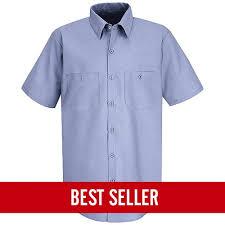 Red Kap Short Sleeve Industrial Solid Work Shirt