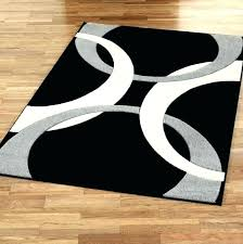 black and silver area rugs beige red rug white