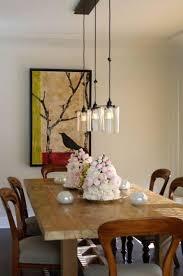 rustic glass pendant lighting. Dining Room Glass Pendants And Rustic Wood Table. Pendant Lighting