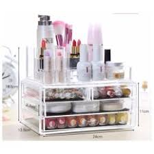 os 3 layer conner organizer clear acrylic box lipstick holder make up brush cosmetics jewelry