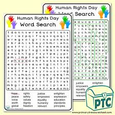 Free interactive exercises to practice online or download as pdf to print. Human Rights Day Word Search A4 Worksheet Ks1 Primary Resources Primary Treasure Chest
