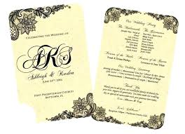 printable program templates vintage wedding program templates royalinnrichmondhillga com