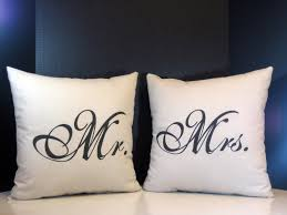 Newlywed Bedroom Pillow Set Mr And Mrs Pillows For Wedding Gifts Newlyweds And