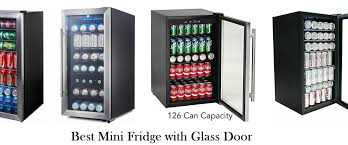 best mini fridge with glass door