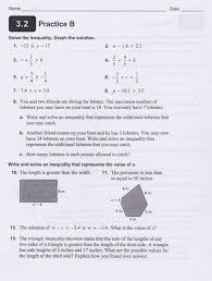 cw hw solving inequalities with one variable 1 9