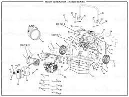 homelite hu5000 husky 5 000 watt generator general assembly 012345678910