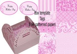 Chocolate Box No 1 Inc Mother Mum Liners A4 Papers Print N Cut