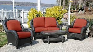 Black Wicker Furniture  Cottage  Deckpatio  Jean RandazzoBlack Outdoor Wicker Furniture