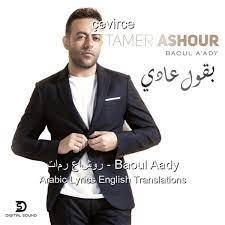 تامر عاشور – Baoul Aady Arabic Lyrics English Translations - Translate  Institution