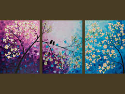 Original Modern Abstract Heavy Texture Palette Knife Impasto Painting Tree  Landscape Wall Decor