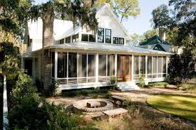 image of cottage house plans with screened back porch