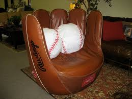 custom baseball glove swivel chair valley leather