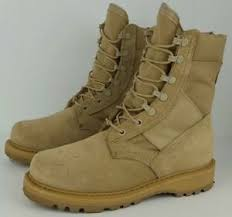 Details About Rocky 789 Mens Size 5w Desert Tan Leather Hot Weather Us Military Combat Boots