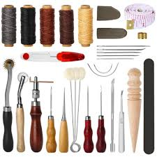 2019 leather sewing tools diy leather craft tools hand stitching tool set with groover awl waxed thread thimble kit from layercuff 25 03 dhgate com
