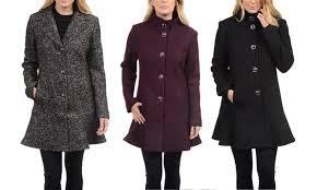 Kensie Womens Wool Coats Size Xs Groupon